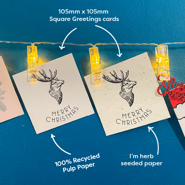Picture of *New* Square Christmas Card Stag Head