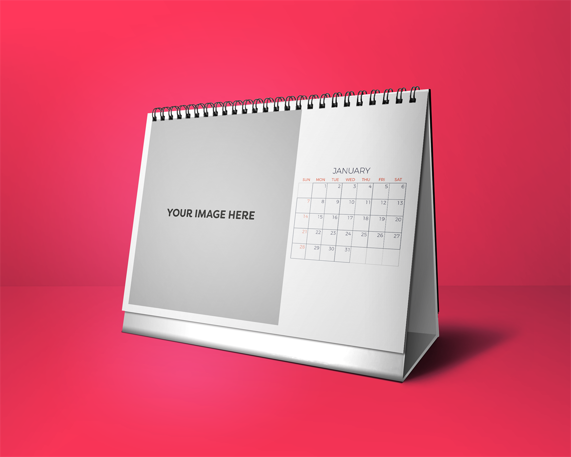 Picture of Professional and Clean - Desktop Calendar Template