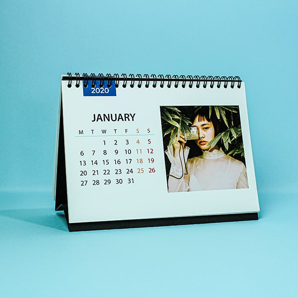 A example of a wall calender product