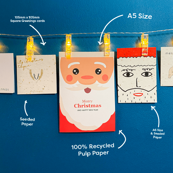 Picture of *New* A6 | A5 Christmas Card Template Santa Illustration