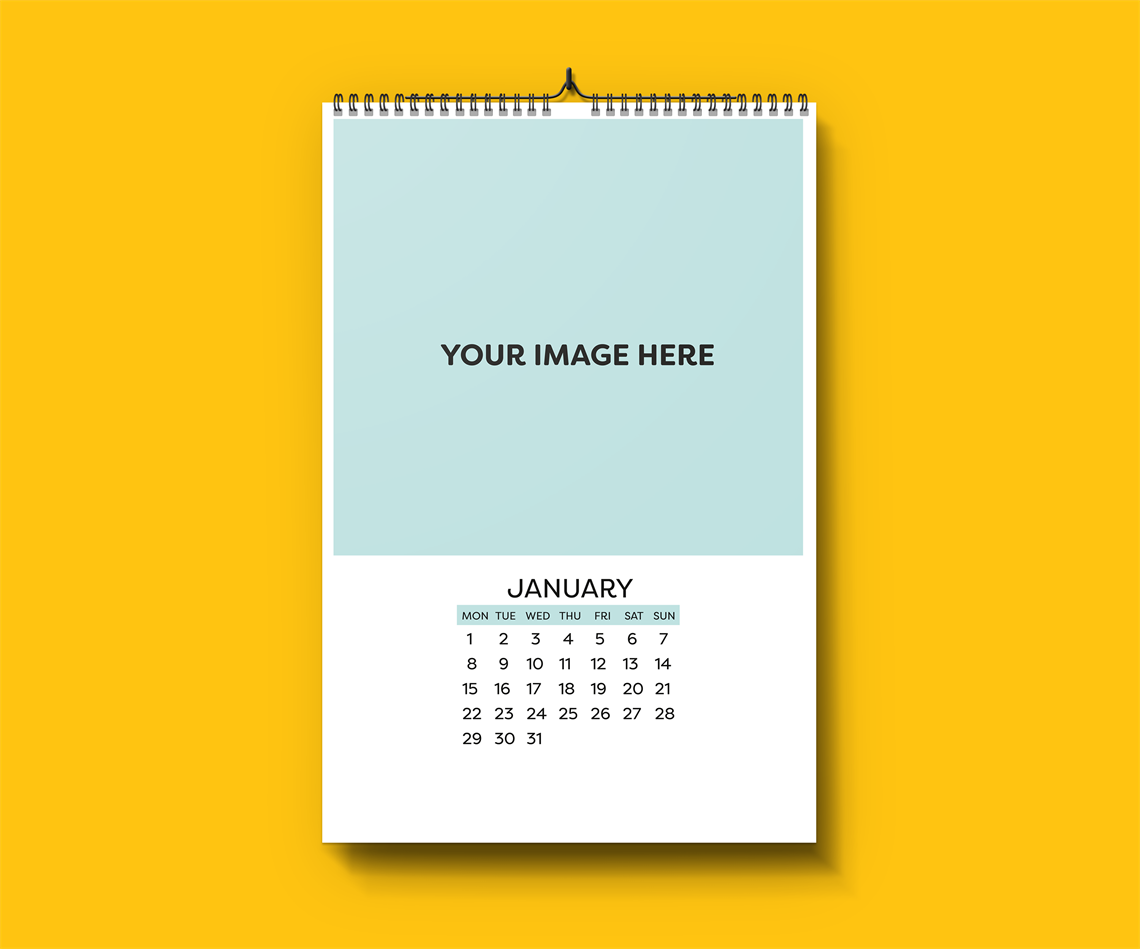 Picture of Plain and Simple - Wall Calendar Template - Just Add Your Pictures