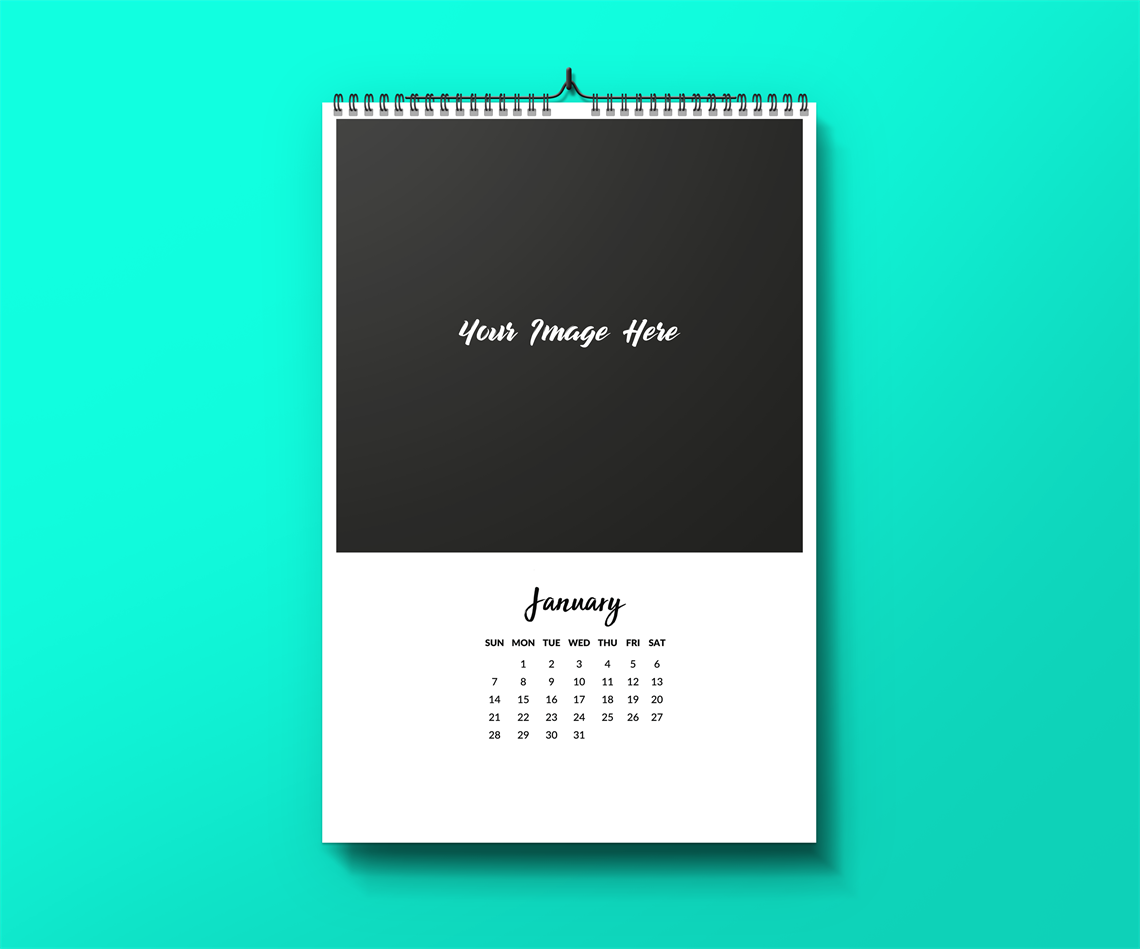 Picture of Classic but Cute - Wall Calendar Template - Just Add Your Pictures