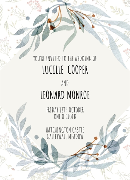 Picture of WEDDING INVITE 1