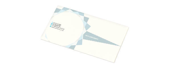 Example of a compliment slip, a product printed by Hatch