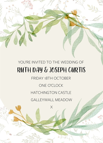 Picture of WEDDING INVITE 2 use